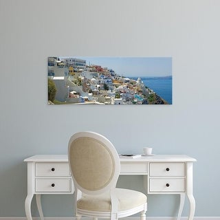 Easy Art Prints Panoramic Images's 'Houses in a city, Santorini, Cyclades Islands, Greece' Premium Canvas Art