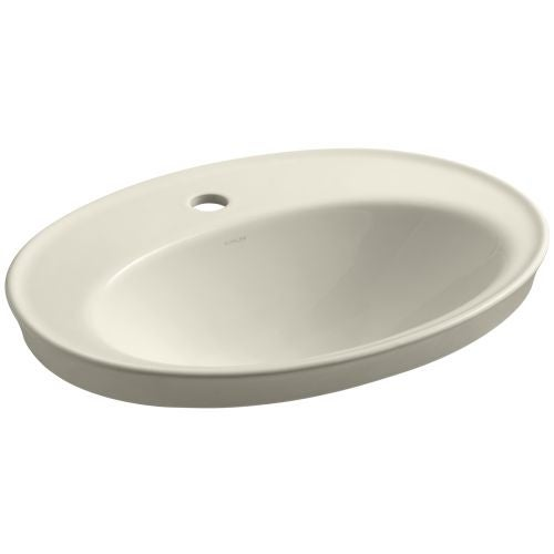 """Kohler K-2075-1 Serif 16-7/8"""" Drop In Bathroom Sink with 1 Hole Drilled and Overflow"""