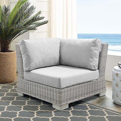 Conway Sunbrella Outdoor Patio Wicker Rattan Corner Chair