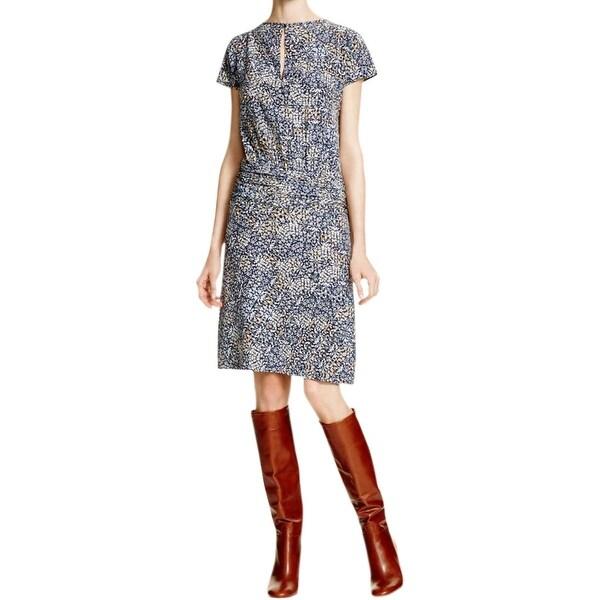 Tory Burch Womens Casual Dress Silk Floral Print
