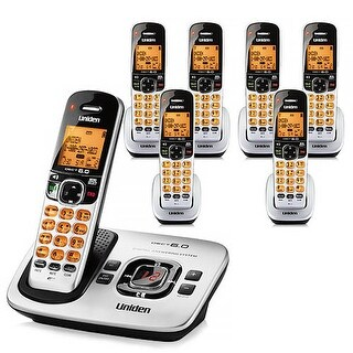 "Refurbished ""Uniden D1780-7 DECT 6.0 Cordless Phone w/ 6 Extra Handsets"""