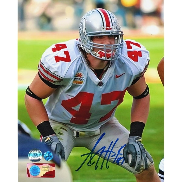 buy popular d2234 43b97 AJ Hawk Ohio State Buckeyes Autographed 8x10 Photo -Ready for Action-