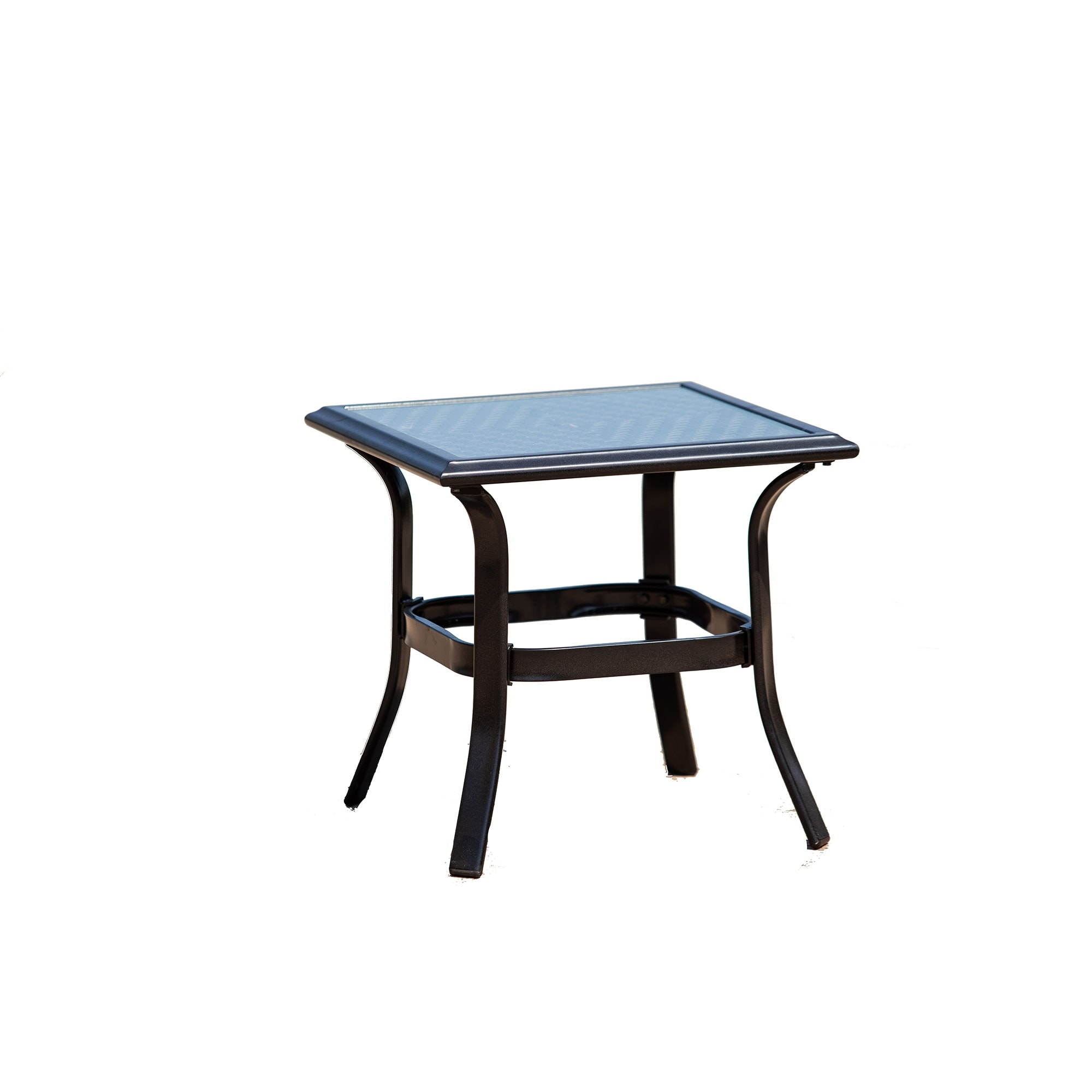 Picture of: Patio Iron Side Table Perfect For Balcony Deck Overstock 31747465