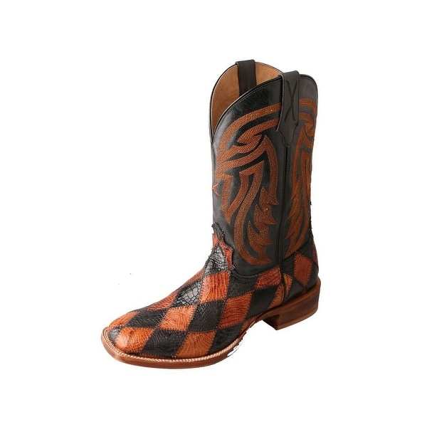 Twisted X Western Boots Mens Rancher Gold Buckle Black Peanut