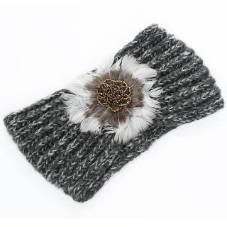 Mad Style Charcoal Feather Headwrap
