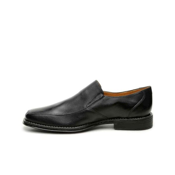 Sandro Mens Walter Leather Square Toe Slip On Shoes