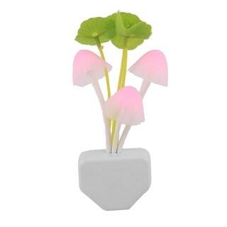 Home Plastic US Plug Type AC110-220V Energy-saving LED Night Light Lamp Pink