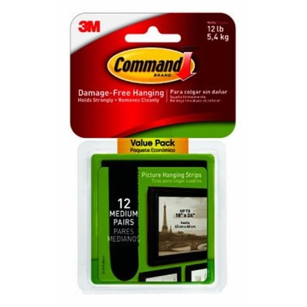 Shop 3m 243248 Command Medium Black Picture Hanging Strips Pack Of