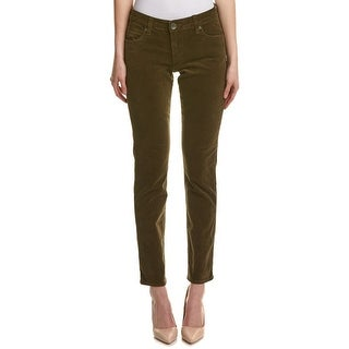 Kut From The Kloth NEW Dark Olive Green Women's Size 16 Corduroys Pants