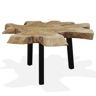 "vidaXL Coffee Table Genuine Teak 31.4""x27.5""x14.9"""
