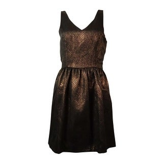 Bar III Women's Sleeveless Metallic Texture Dress