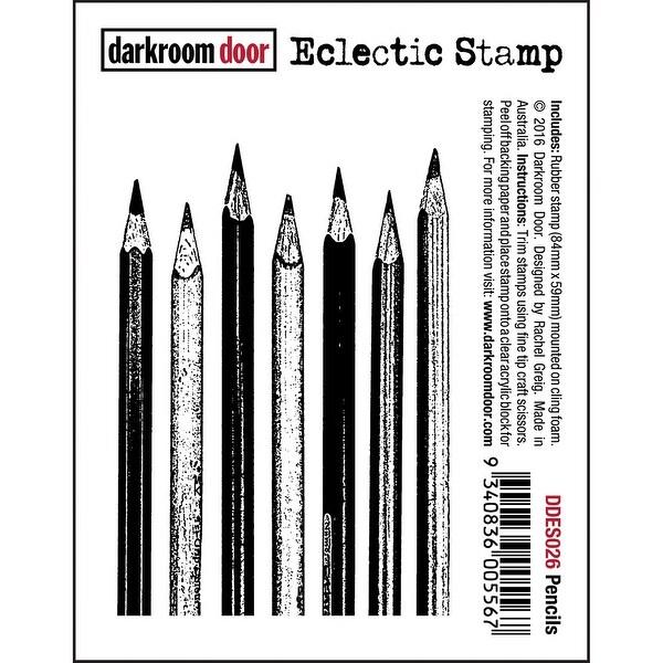 """Darkroom Door Cling Stamp 3""""X2""""-Pencils"""