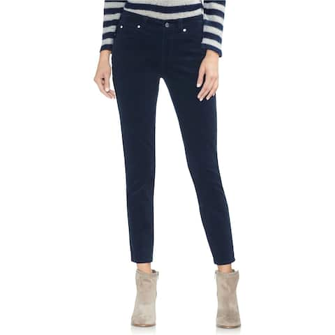Vince Camuto Womens Washed Casual Corduroy Pants, Blue, 30W (US 10) - 30W (US 10)