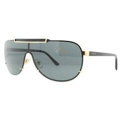 VERSACE Shield VE 2140 Unisex 1002/87 Gold/Black Gray Lens Sunglasses - 40mm-11mm-135mm