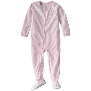 Carter's Girls Fleece Kitten Fleece Footed Pajamas