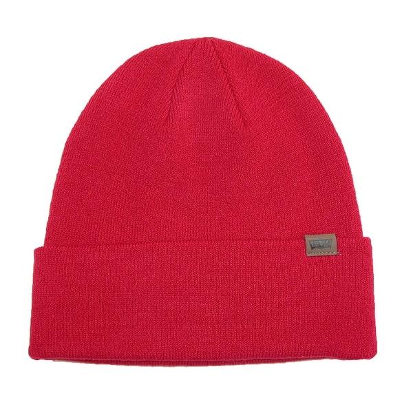 Levis Flat Knit Cuffed Beanie Stocking Hat