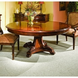 """Manchester 72"""" Round Dining Table - Brown"""