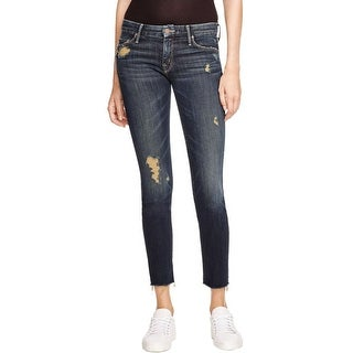 Mother Womens Looker Skinny Jeans Denim Distressed