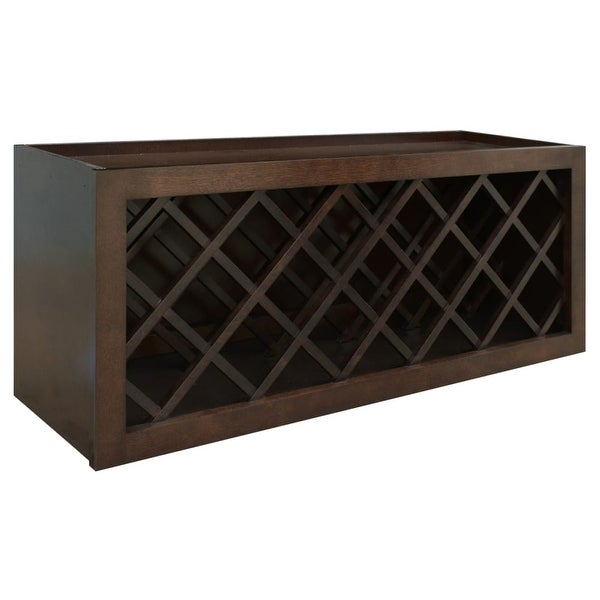 Healdsburg 36  x 15  Wine Bottle Rack Wall Cabinet - rich walnut - N  sc 1 st  Overstock.com : wine wall cabinet - Cheerinfomania.Com