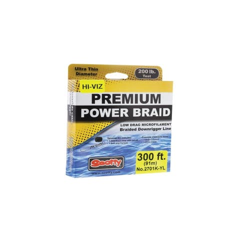 Scotty Premium Power Braid Downrigger Line Hi-Vis Yellow Downrigger Line