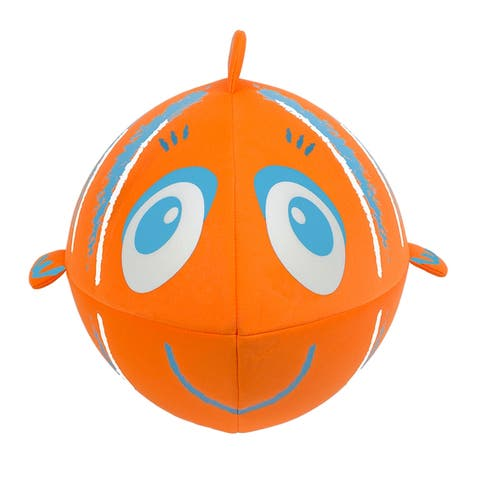Inflatable Orange and Blue Fish Swimming Pool and Beach Ball, 27-Inch