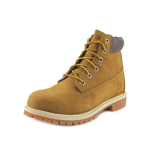 """Timberland 6"""" Premium Youth Round Toe Leather Brown Work Boot"""