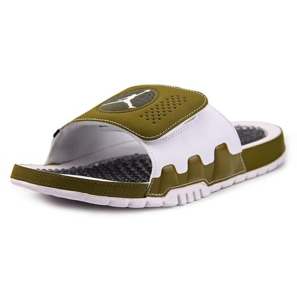 246c6ab594d64a Shop Jordan Hydro IX Retro Militia Green White-White-Blck Sandals ...
