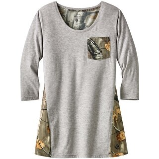 Legendary Whitetails Ladies Escape The Day Big Game Camo Tunic - Heather Grey