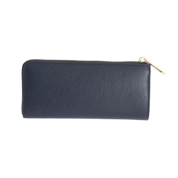 Shop Michael kors Navy Blue BEDFORD Leather Wallet One