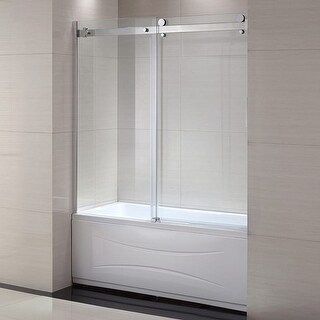 "Miseno MSDC6063 62-6/10"" High x 59"" Wide Frameless Bathtub Shower Door for Alcove Installations"