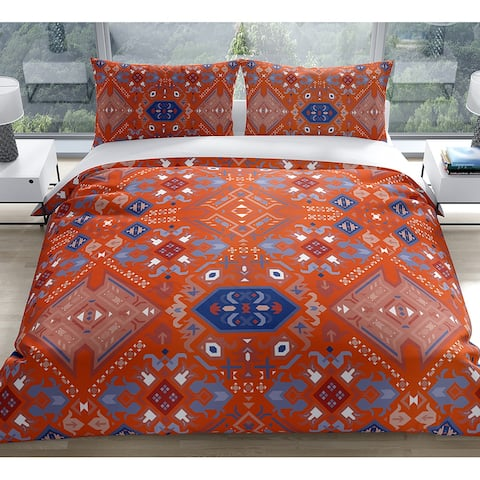 SERAPI ORANGE Duvet Cover by Kavka Designs