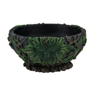 Green Man Black Stone Finish Scrying Bowl