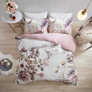 Link to Madison Park Gisele Blush Cotton Printed Duvet Cover Set Similar Items in Duvet Covers & Sets