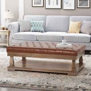 Link to Mineola Contemporary Upholstered Rectangular Ottoman by Christopher Knight Home Similar Items in Ottomans & Storage Ottomans