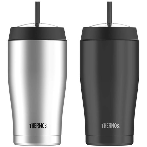 Thermos 22 oz. Vacuum Insulated Stainless Steel Cold Cup with Straw - 22 oz.