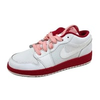 Nike Grade-School Air Jordan I 1 Low White/Voltage Cherry-Storm Pink 554723-118 Size 6.5Y