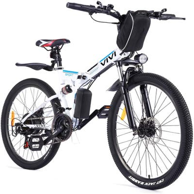 """Folding Electric Bike Electric Mountain Bicycle 26"""" Lightweight 350W Ebike, for Adults with Removable 8Ah LithiumBattery,21Speed"""