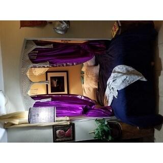 Violet Red Tie Top Sheer Sari Curtain / Drape / Panel - Pair