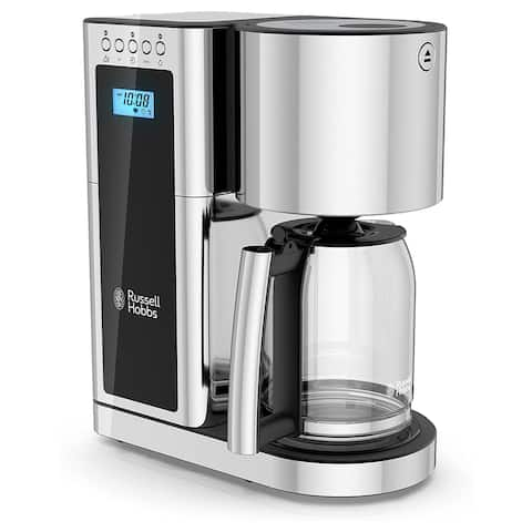 Russell Hobbs Glass Coffeemaker with 8 Cup Capacity- Black
