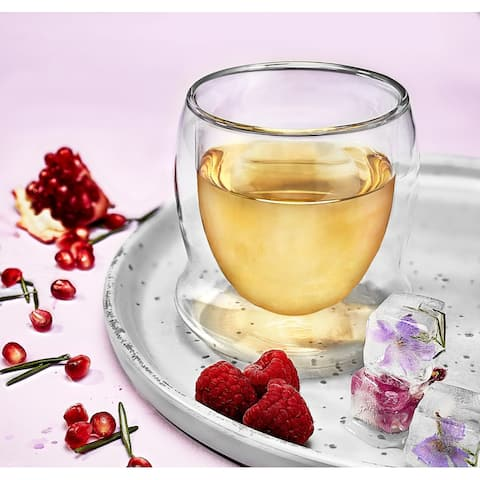 JoyJolt Cosmo Double Walled Stemless Wine Glasses - 10 oz - Set of 4 - 10 oz