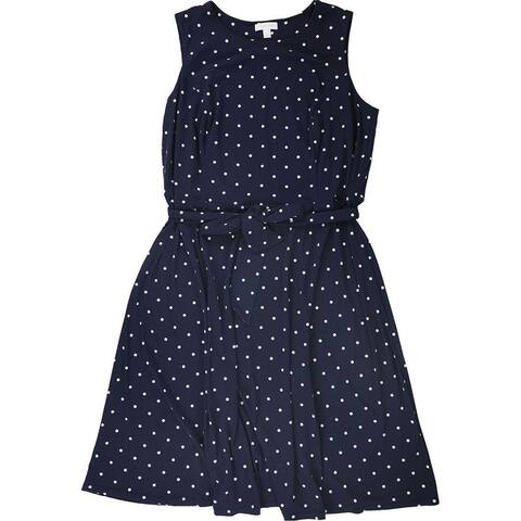 Charter Club Womens Midi A-Line Dress