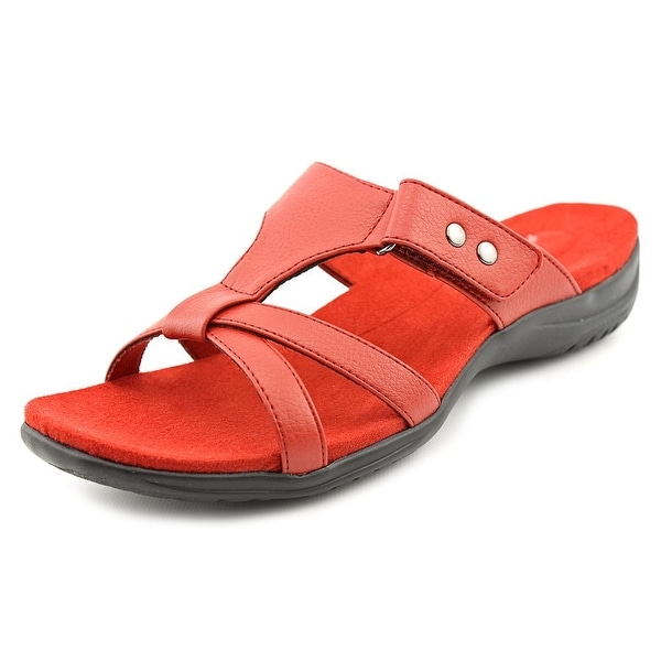 Easy Street Blaze Women W Open Toe Synthetic Red Slides Sandal