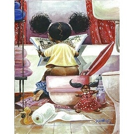 ''Crossword Puzzle'' by Frank Morrison African American Art Print (22.5 x 18 in.)