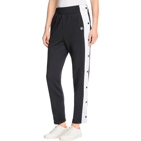 Puma Womens Sweatpants Side Snap Buttons Colorblock