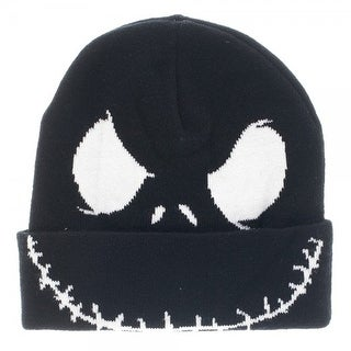 Nightmare Before Christmas Jack Face Cuff Beanie