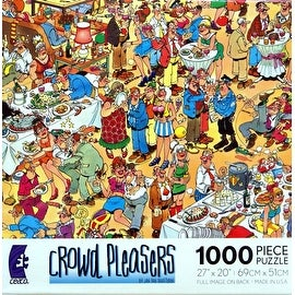 Crowd Pleasers HAPPY BIRTHDAY Puzzle 1000 Pieces Jigsaw Puzzle by Jan Van Haasteren