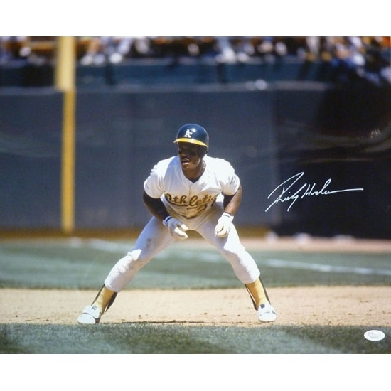 online store cd7d1 41d40 Rickey Henderson Autographed Oakland Athletics