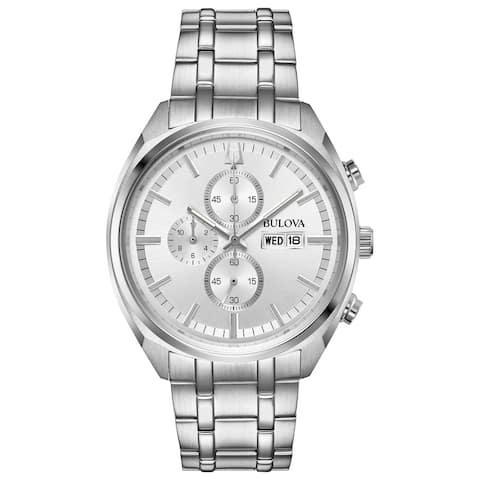 Bulova Men's 96C135 Stainless Chrono Bracelet Watch - Silvertone