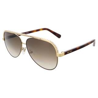Jimmy Choo LINA/S 0J8A Rose Gold Aviator sunglasses