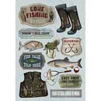 Wishin' I Was Fishin' - Cardstock Stickers